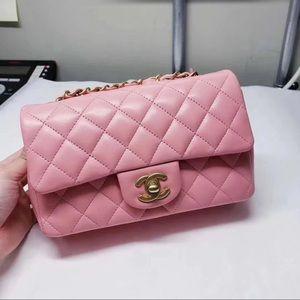 Chanel Sakura pink lambskin mini classic